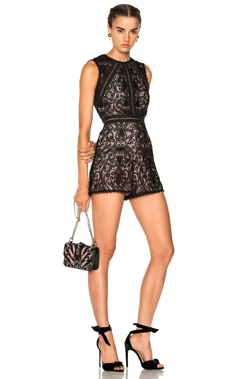 7a4c6b3e41b Alexis Makenna Romper In Black