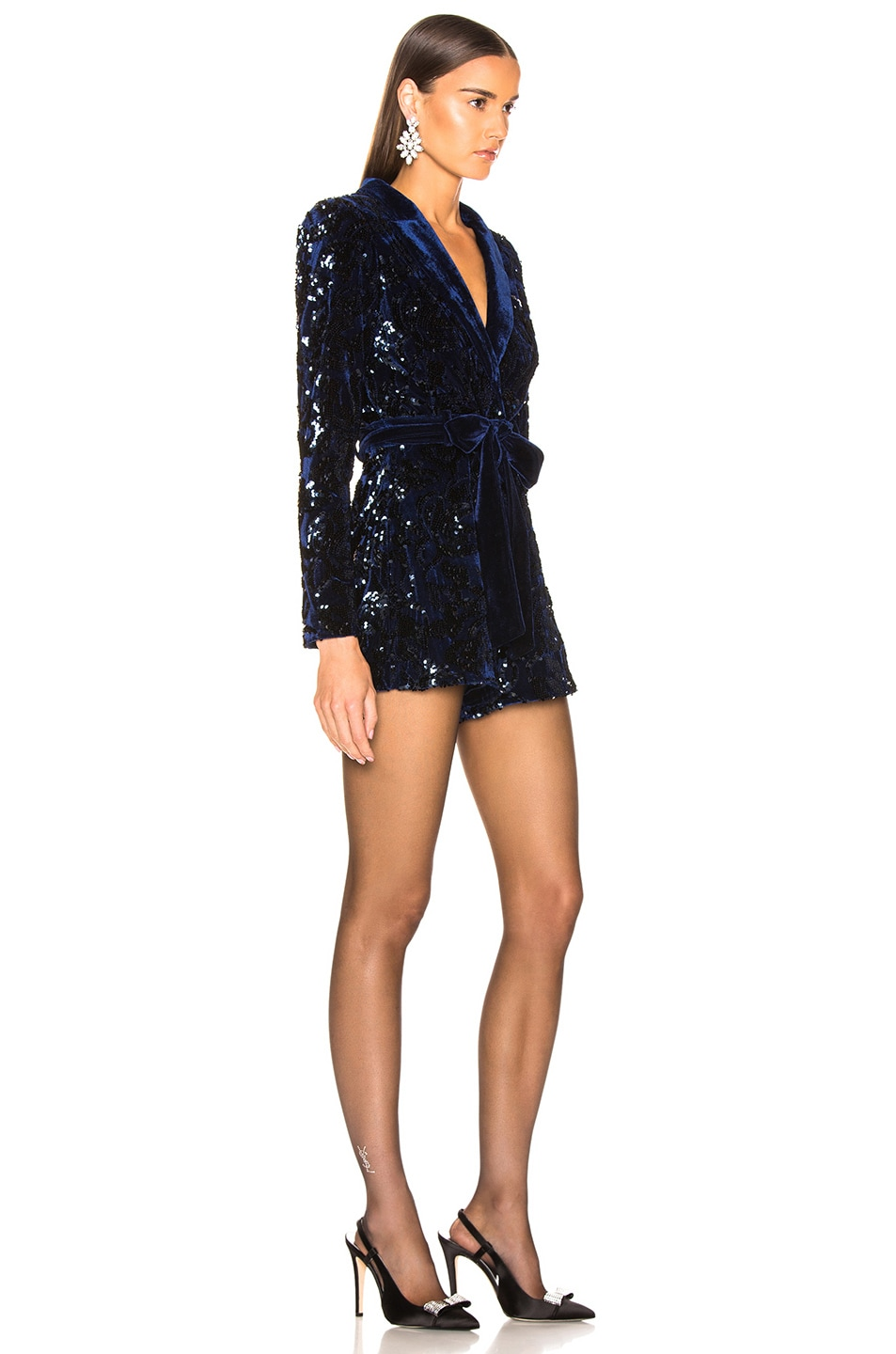 Image 2 of Alexis Pamina Romper in Navy Sequins