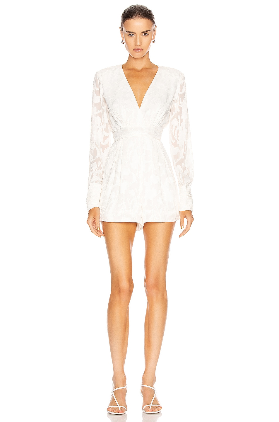 Image 1 of Alexis Theda Romper in Ivory Floral