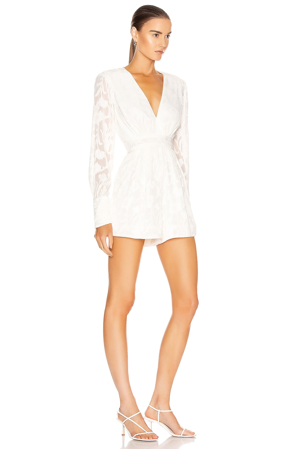 Image 2 of Alexis Theda Romper in Ivory Floral