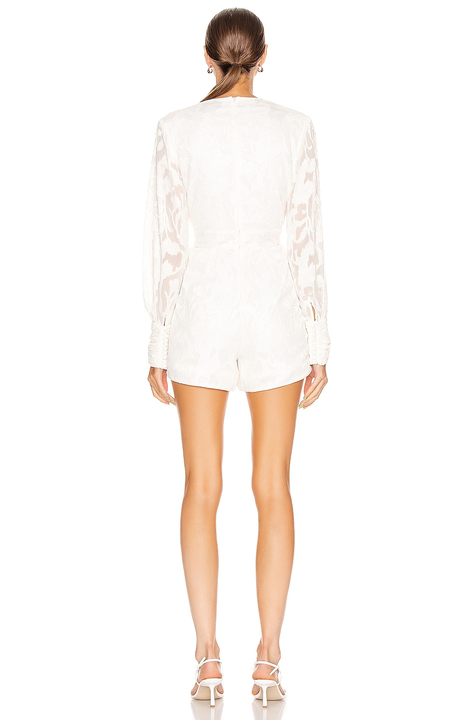 Image 3 of Alexis Theda Romper in Ivory Floral