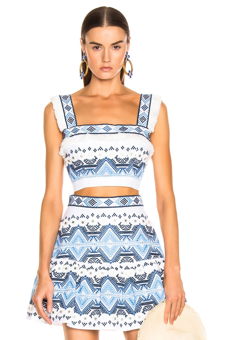 Image 1 of Alexis Liddy Top in Rich Embroidery Blue