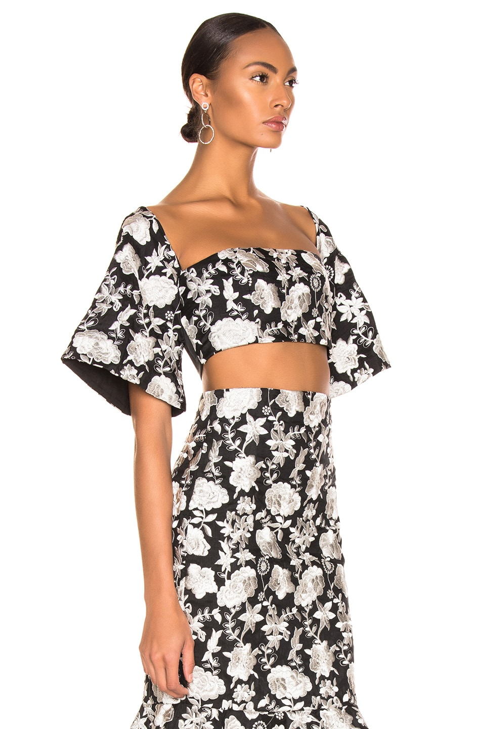 Image 2 of Alexis Tiras Top in Ivory Floral Embroidery
