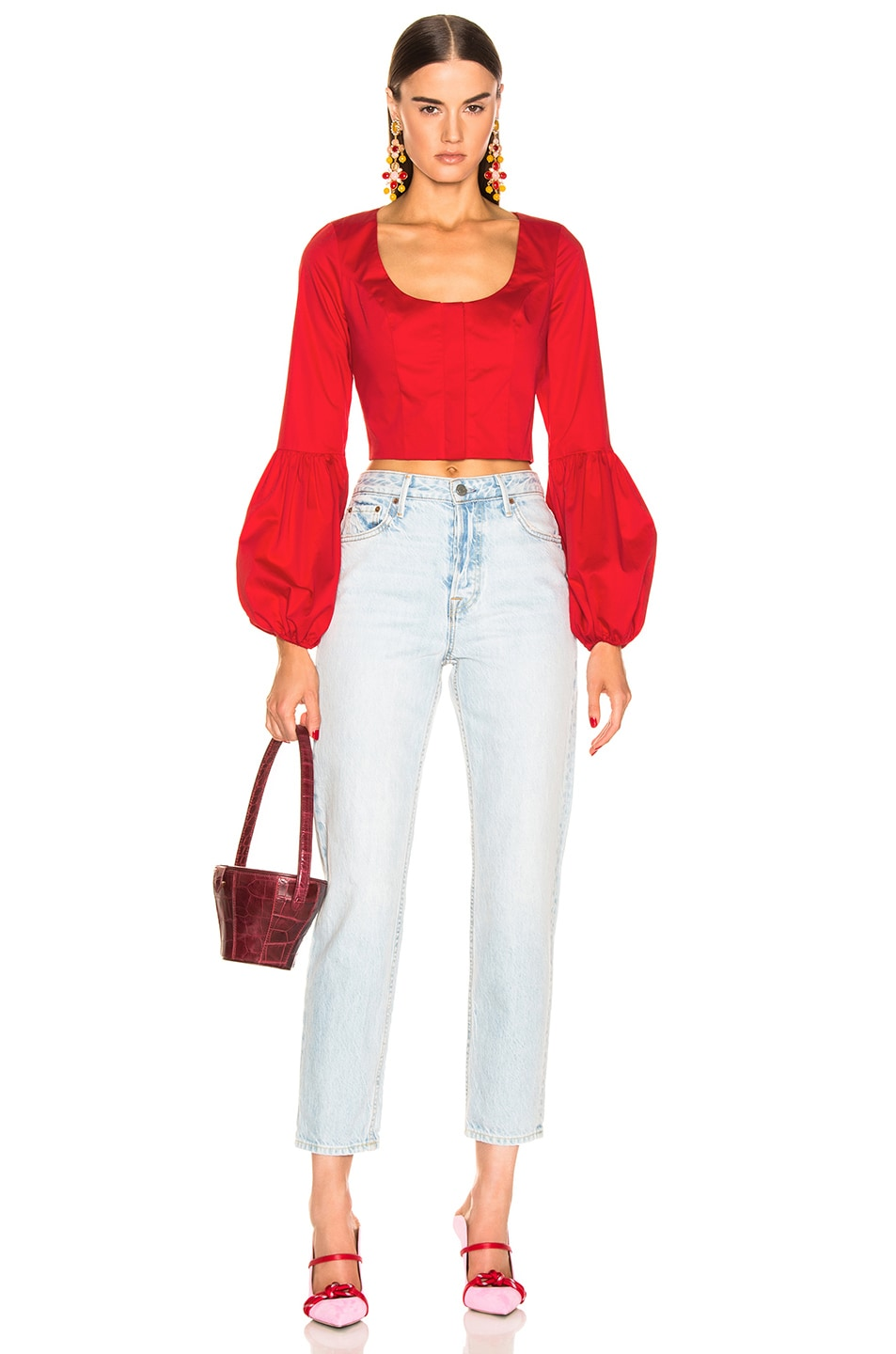 Image 4 of Alexis Ottera Top in Scarlet Red