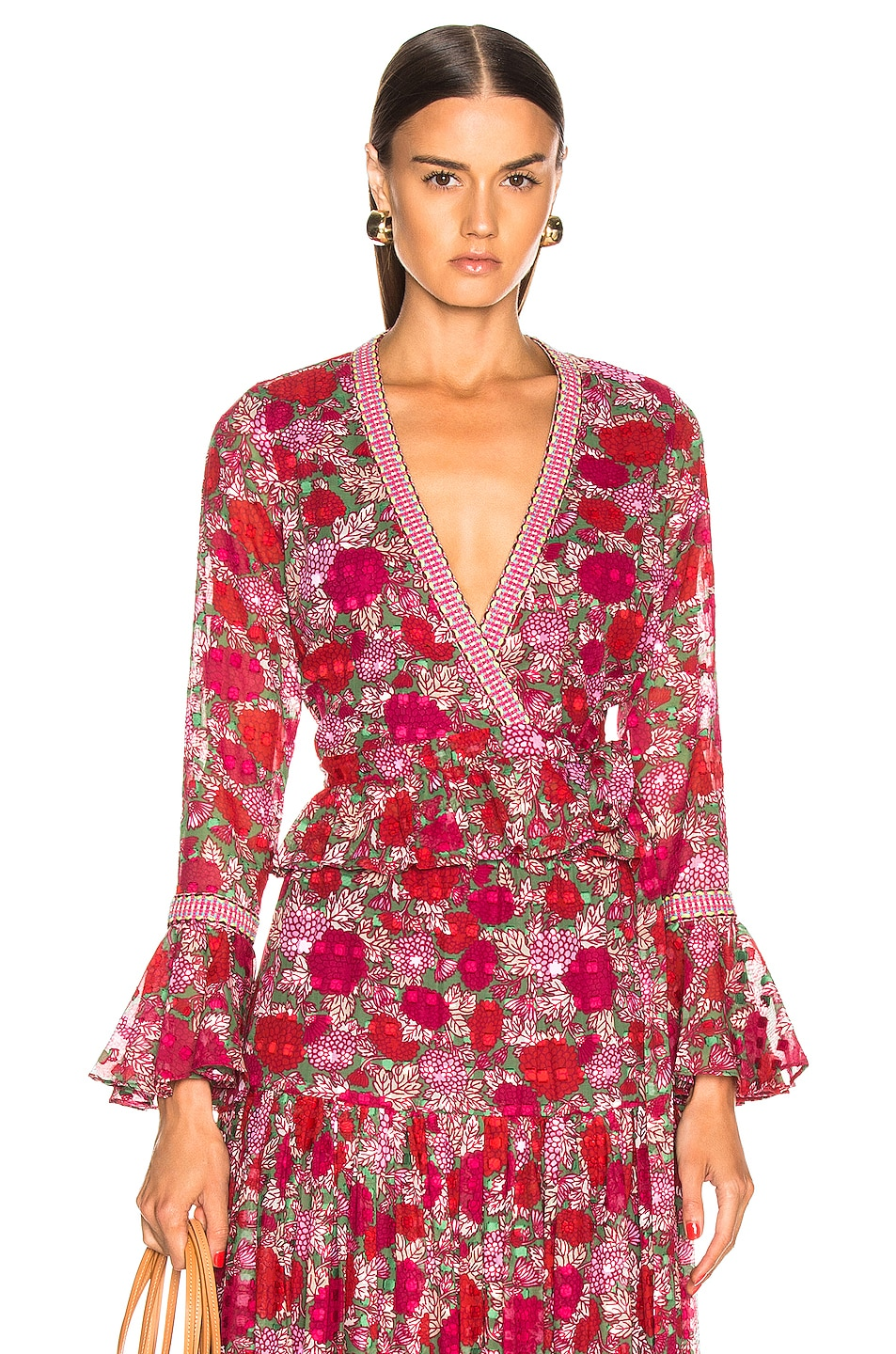 Image 1 of Alexis Stacia Top in Fuchsia Bouquet