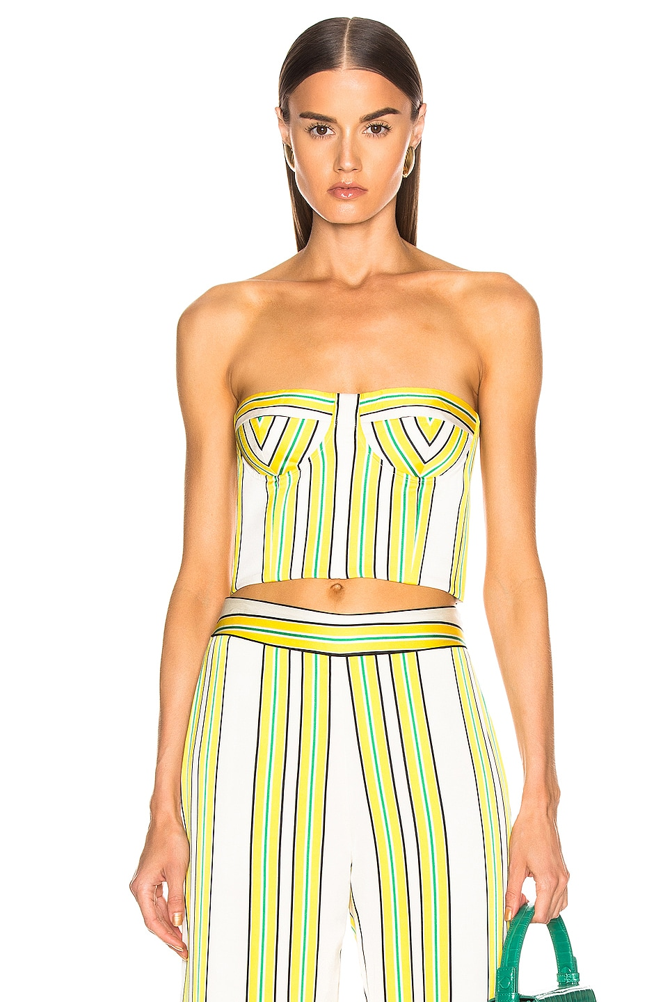 Image 1 of Alexis Summer Bustier Top in Tuscan Stripe