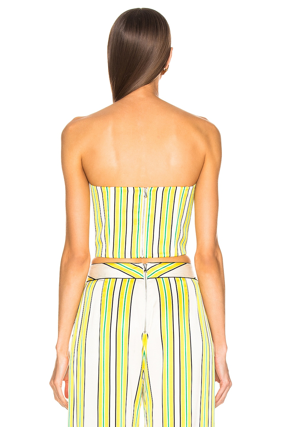 Image 3 of Alexis Summer Bustier Top in Tuscan Stripe