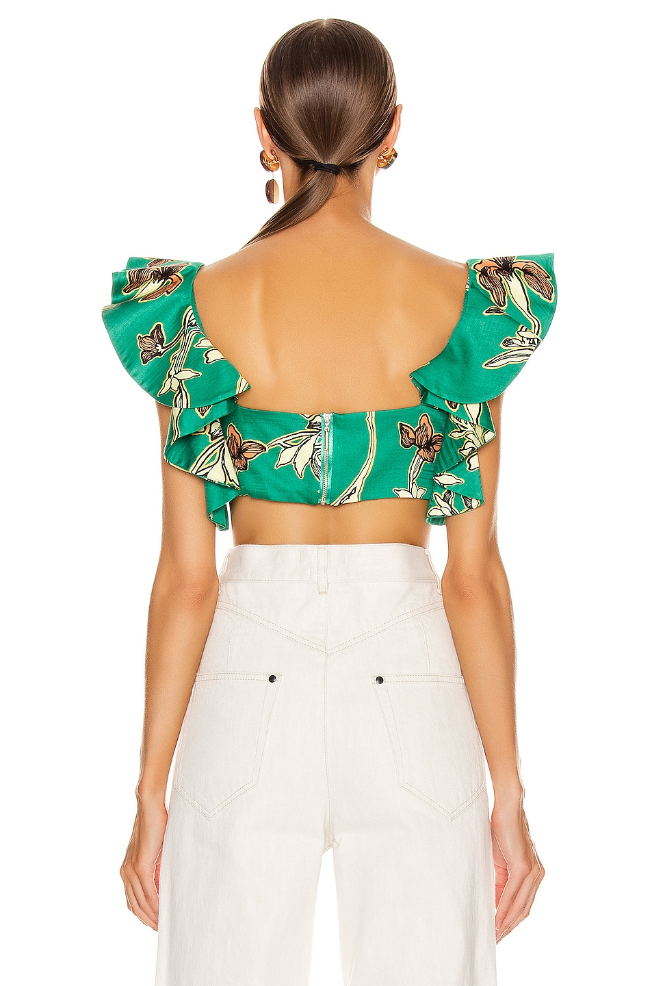 Image 3 of Alexis Hoshi Top in Jade Green Orchid