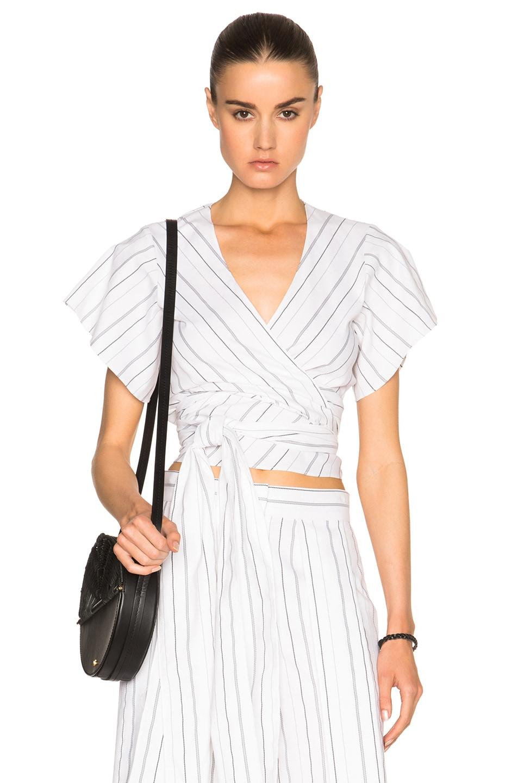 Image 1 of Alexis Ruban Top in Black & White Stripe