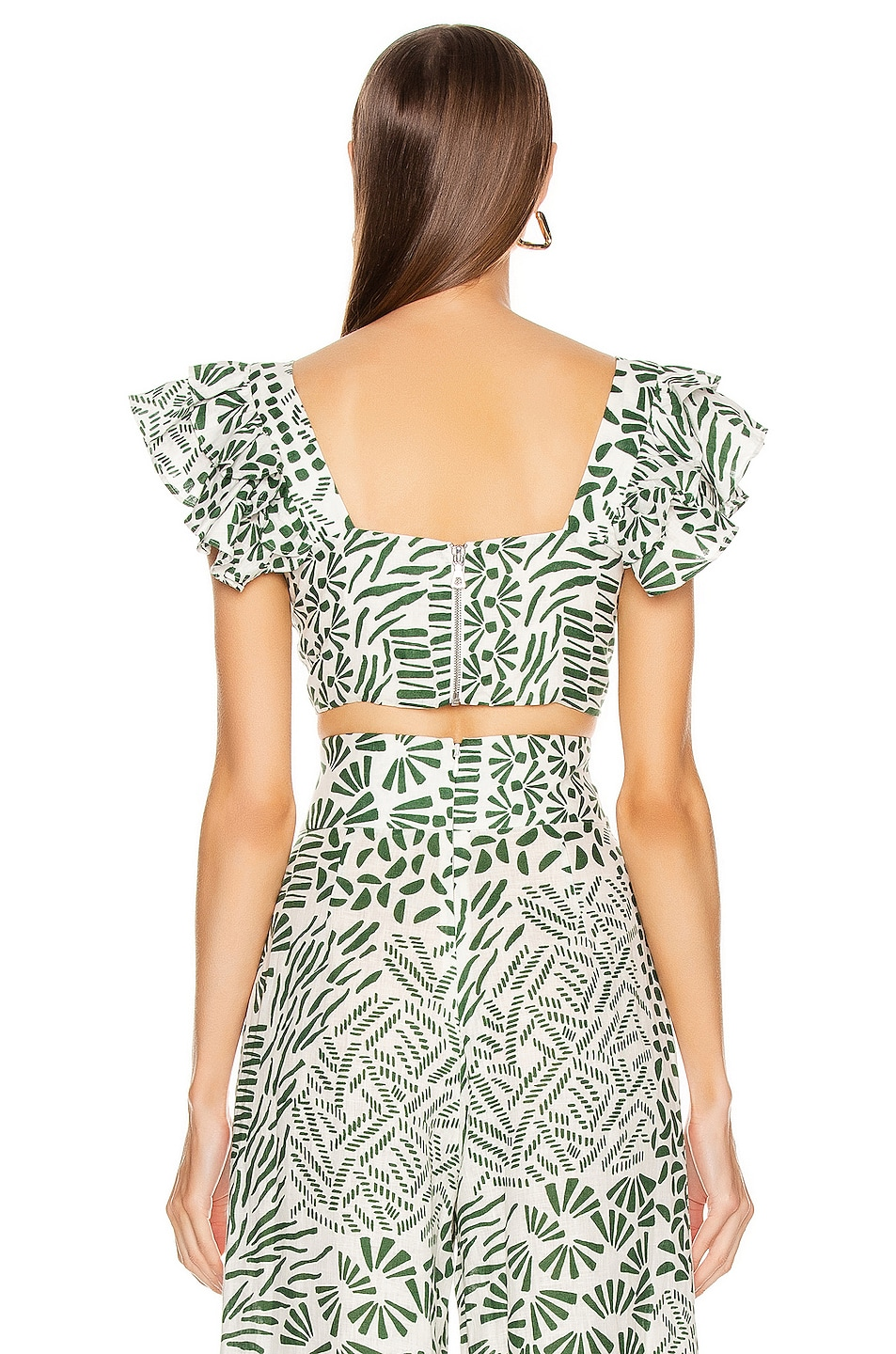 Image 3 of Alexis Verna Top in Green Abstract
