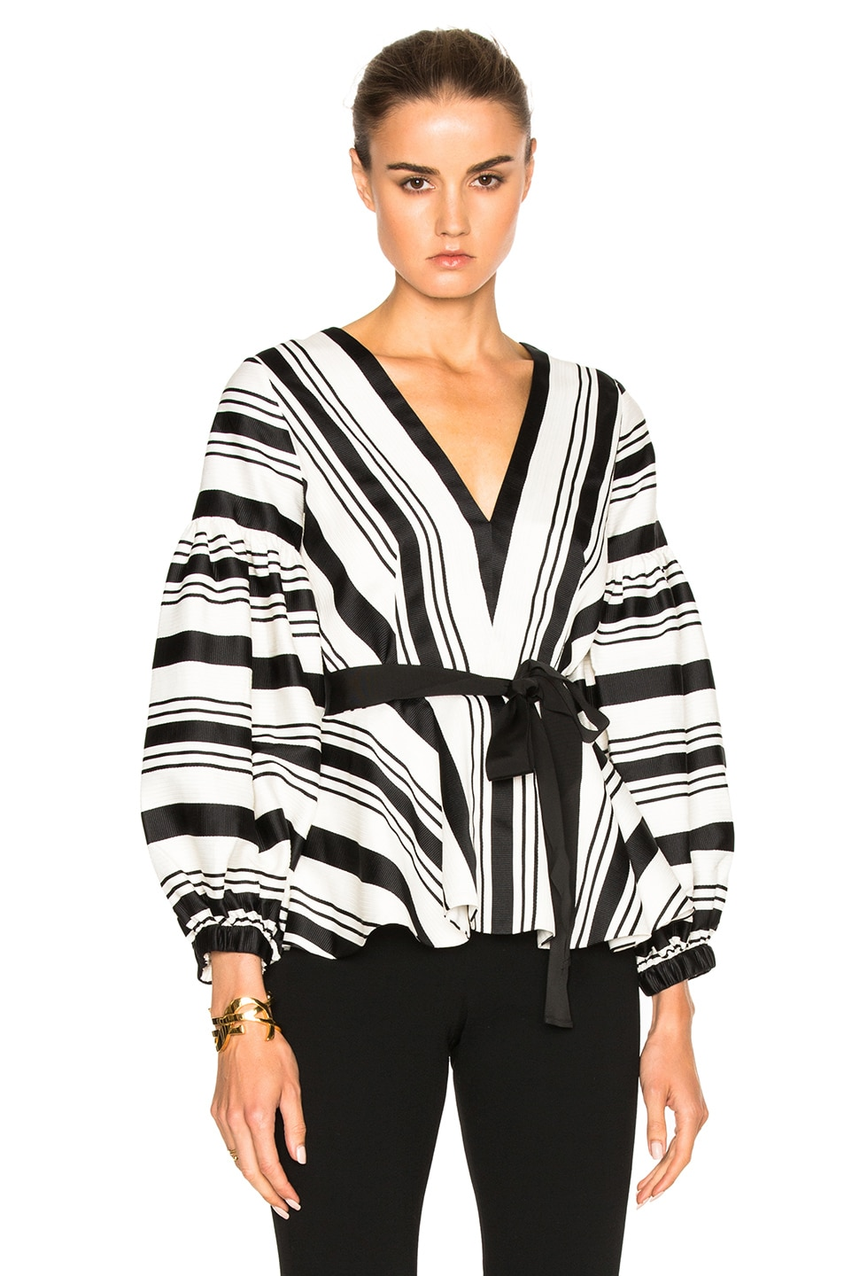 Image 1 of Alexis Sienna Top in Black & White