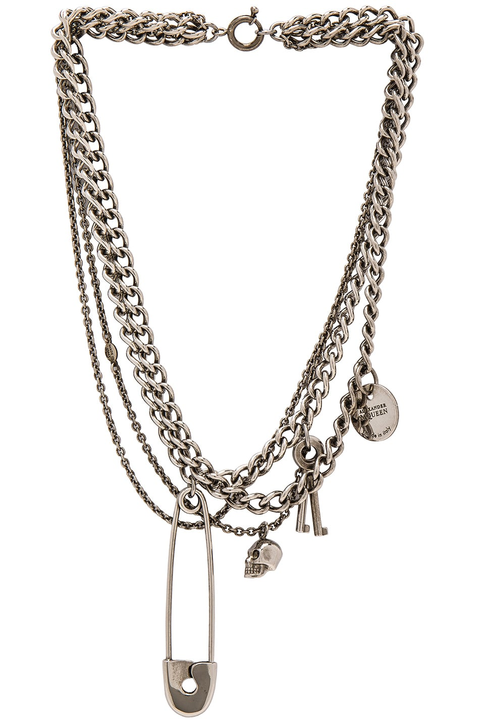 Image 1 of Alexander McQueen Necklace in Silver