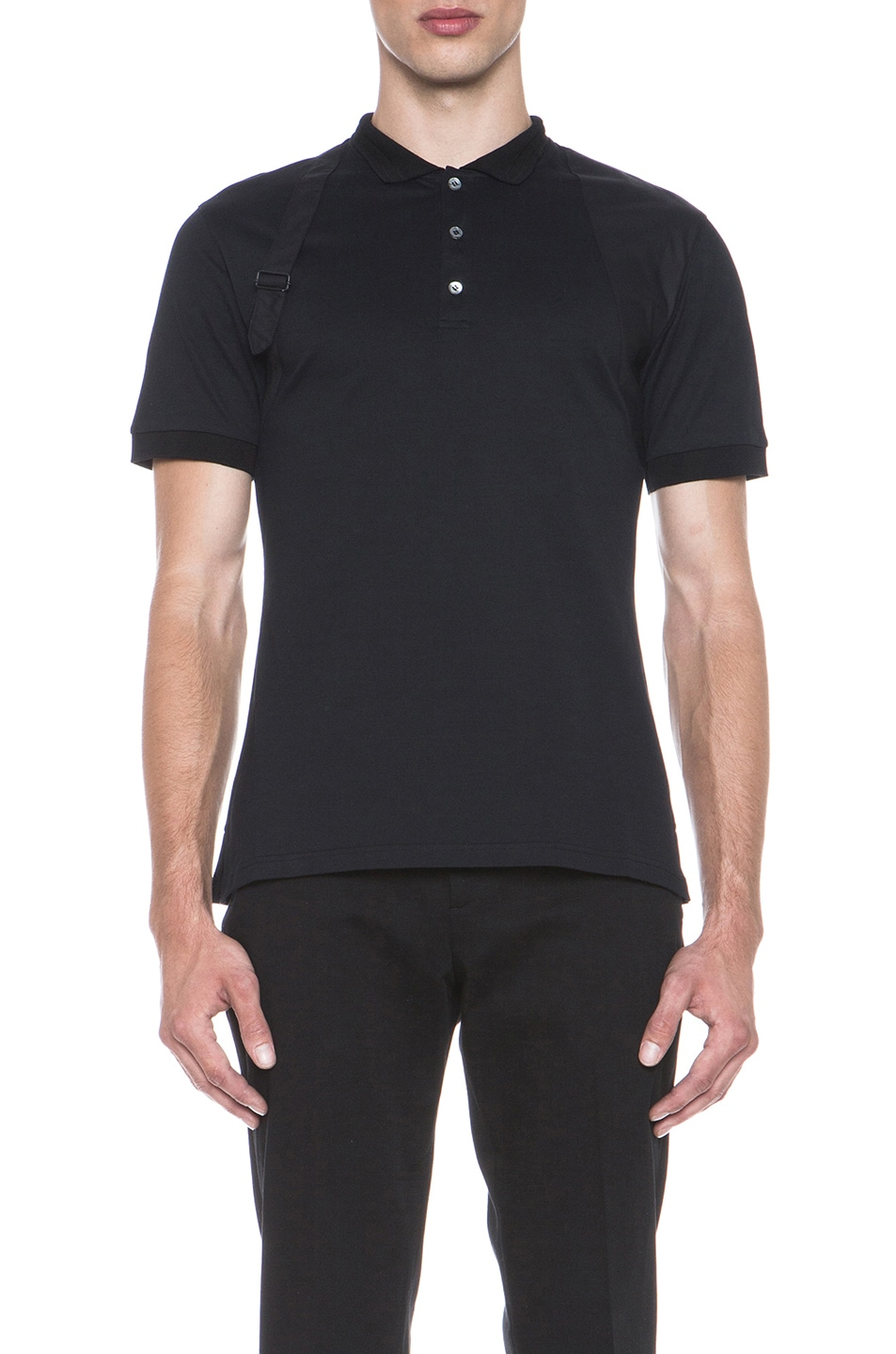 8f26f6d25 Image 1 of Alexander McQueen Harness Polo in Black