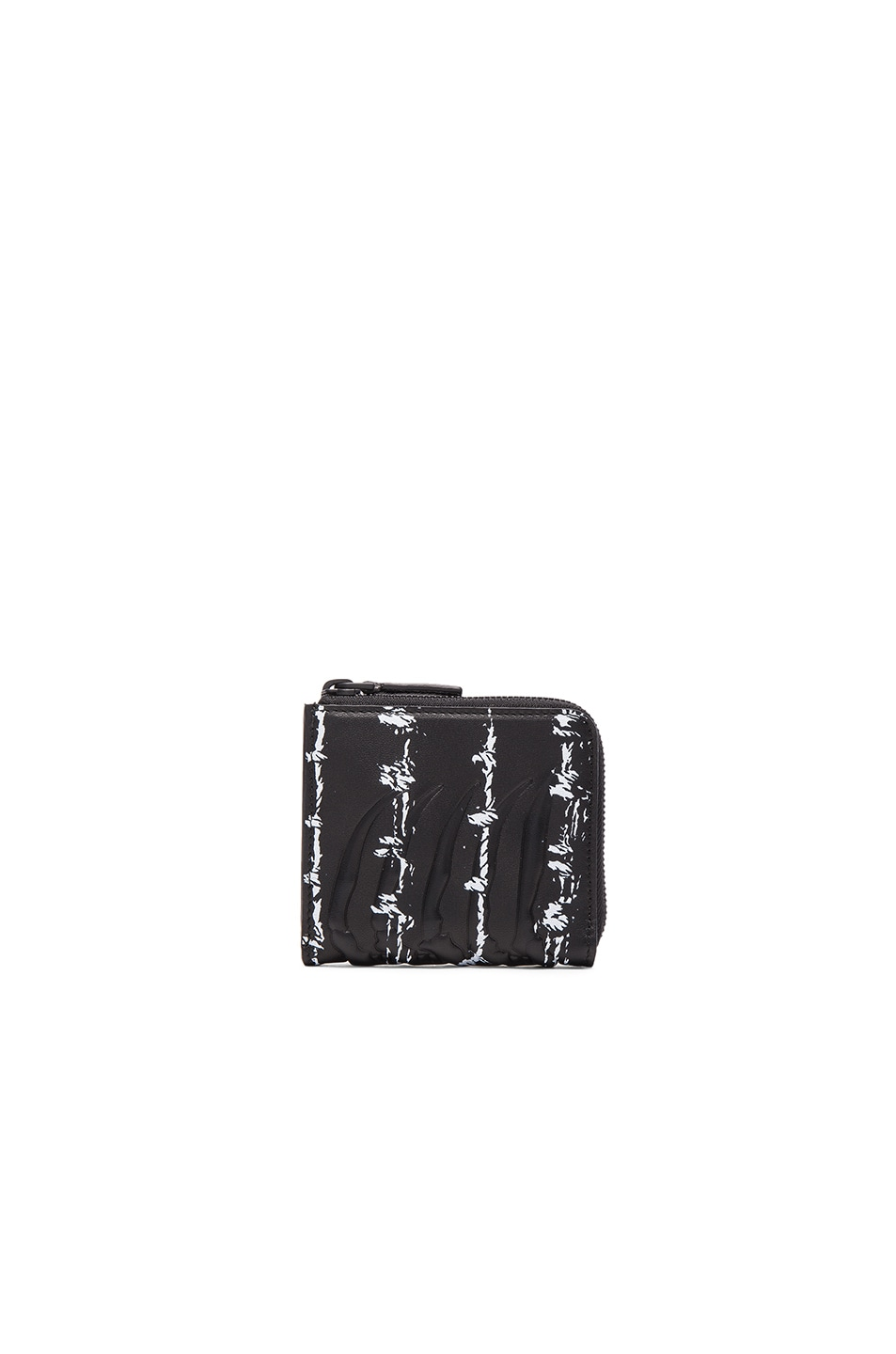 Alexander McQueen Barb Wire Print Rib Cage Zip Wallet in Black ...