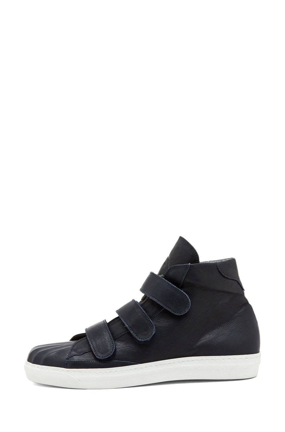 Image 1 of Alexander McQueen High Top Velcro Strap Sneaker in Endless Blue