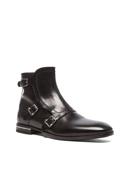 Image 1 of Alexander McQueen Three Buckle Boots in Black