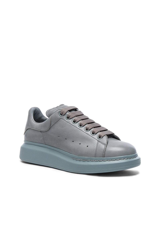 Image 1 of Alexander McQueen Leather Platform Sneakers in Sugar Paper