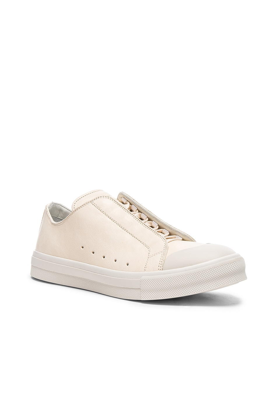 Image 1 of Alexander McQueen Low Top Sneakers in Ivory & White