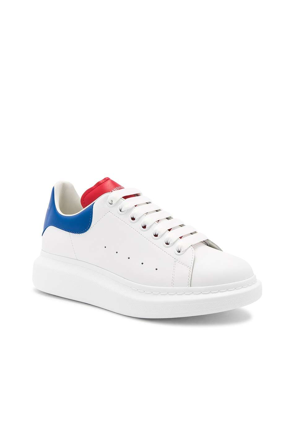 Red and White Colorblock Sneakers Alexander McQueen r3tNyEuXT