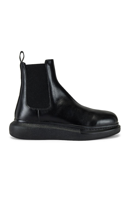 Image 1 of Alexander McQueen Chelsea in Black