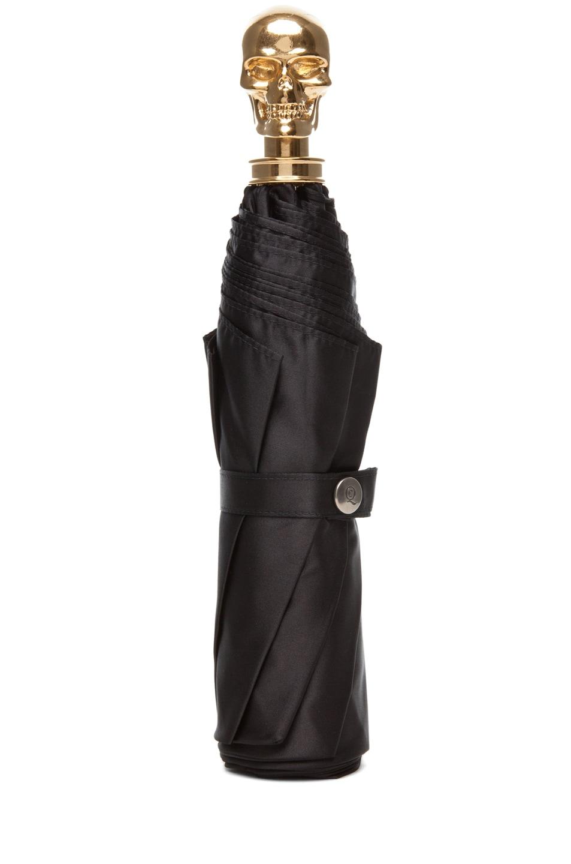 Image 1 of Alexander McQueen Skull Umbrella in Black