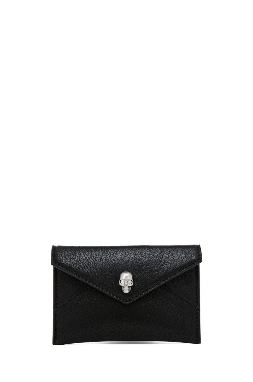 Image 1 of Alexander McQueen Envelope Card Holder in Black
