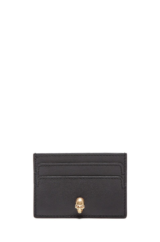 Image 1 of Alexander McQueen Card Holder in Black