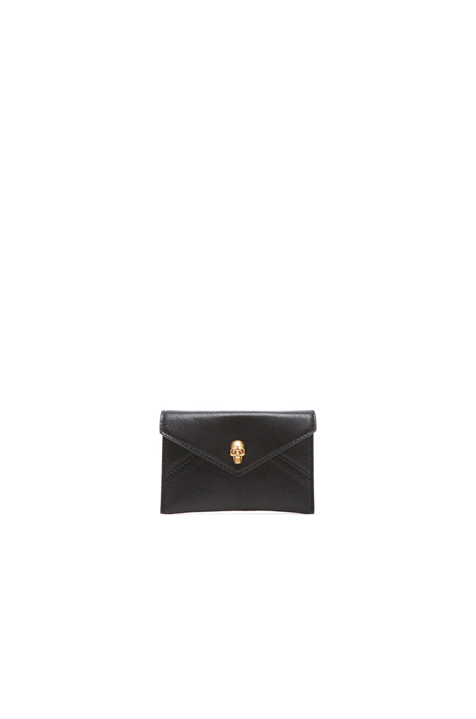 Image 1 of Alexander McQueen Envelope Card Holder in Black