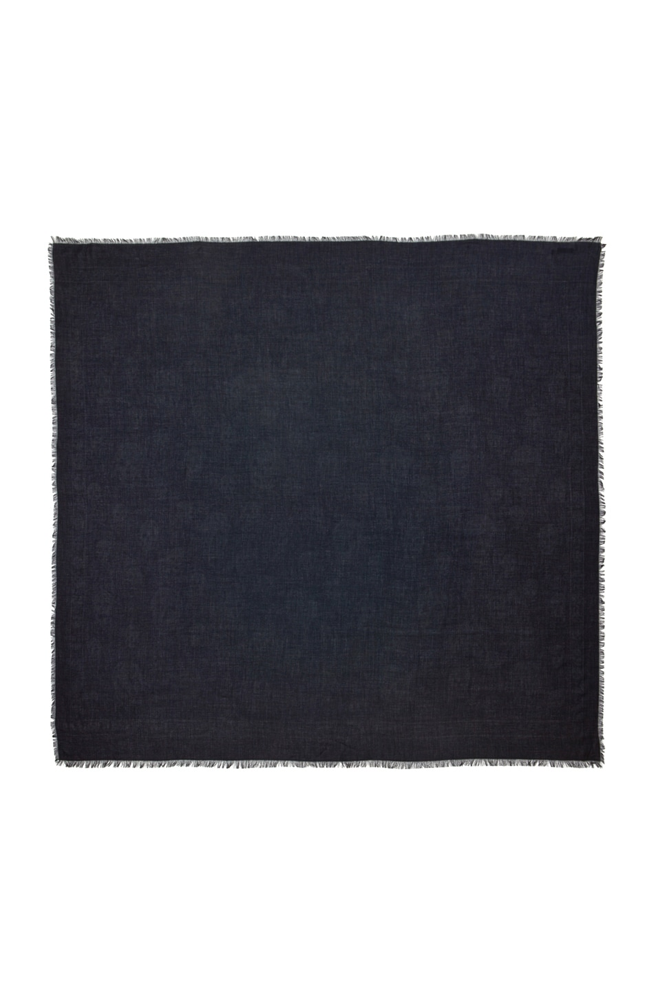 Image 1 of Alexander McQueen All Over Skull Scarf in Midnight Blue