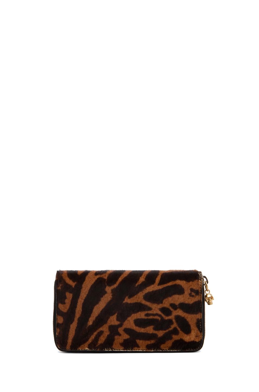 Image 1 of Alexander McQueen Zip Wallet in Natural/Black