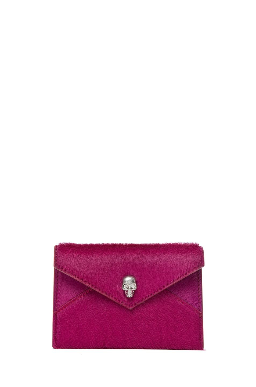 Image 1 of Alexander McQueen Envelope Card Holder in Pink