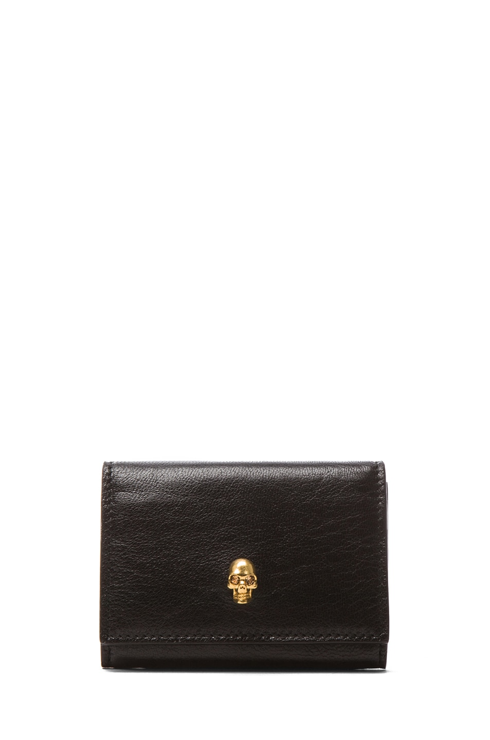 Image 1 of Alexander McQueen Fold Over Card Holder in Black