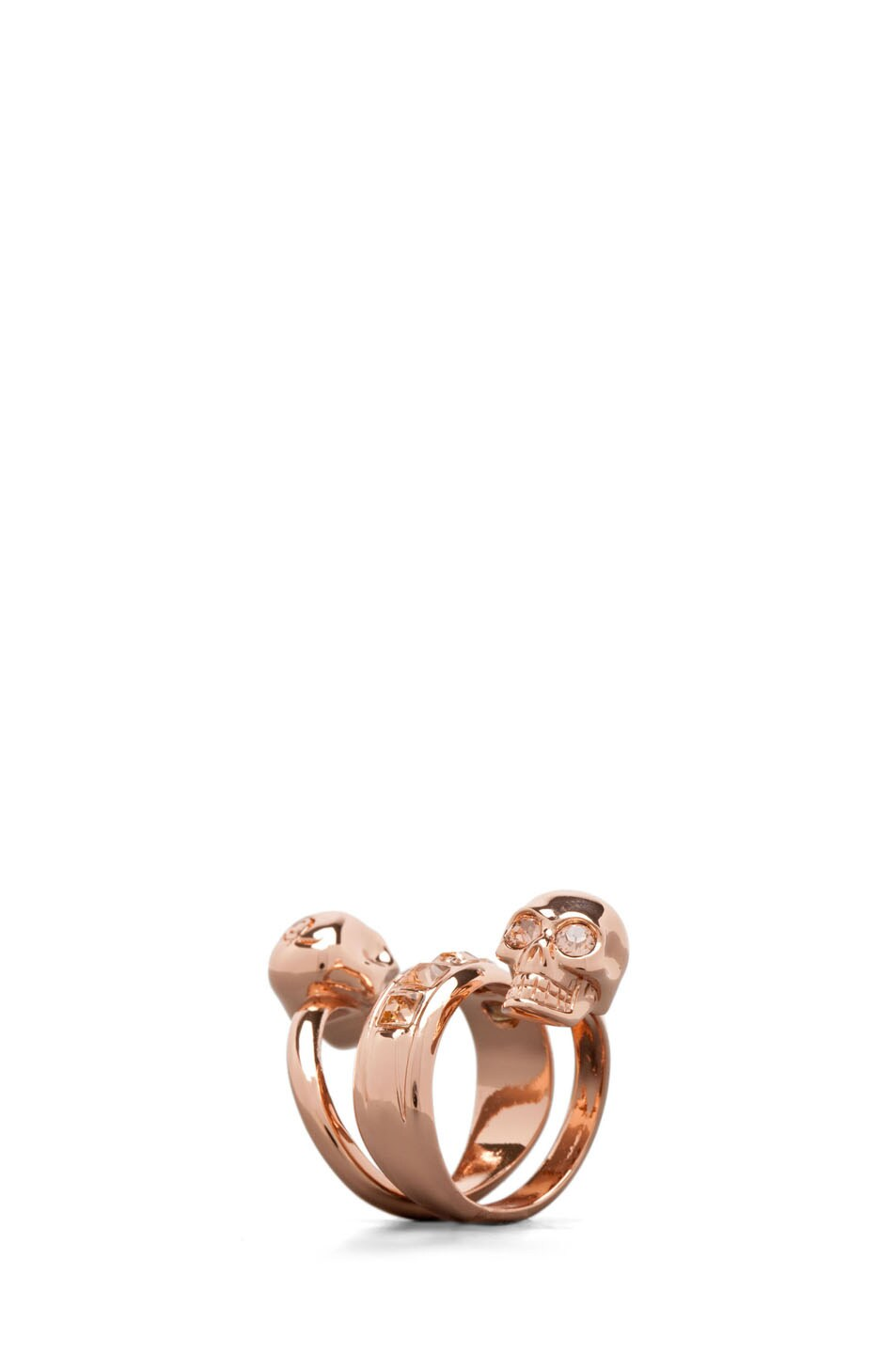 Image 1 of Alexander McQueen Twin Ring in Rose Gold