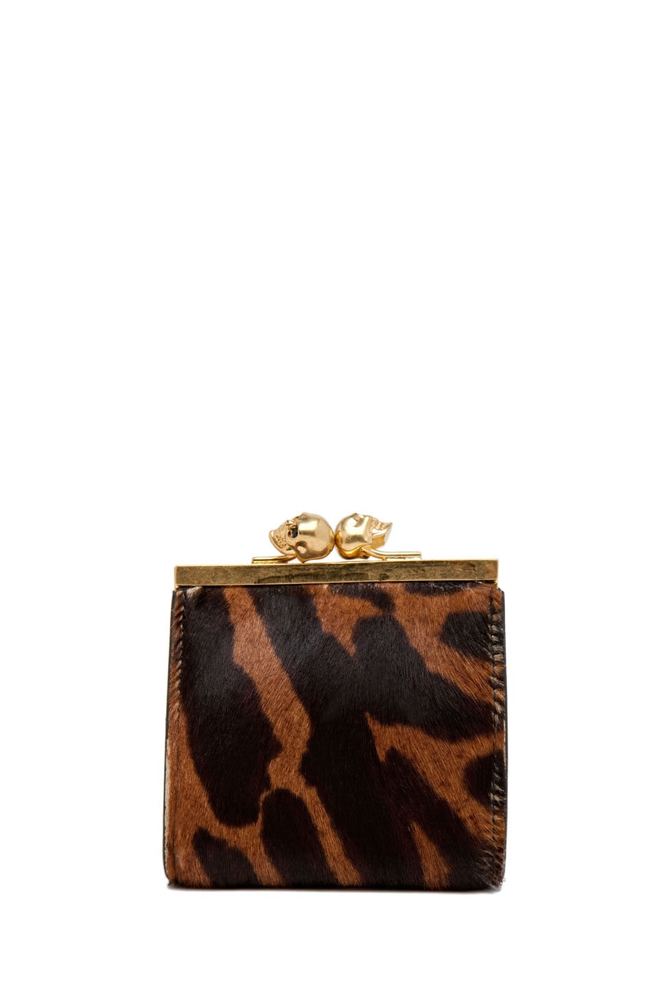 Image 1 of Alexander McQueen Coin Purse in Natural/Black