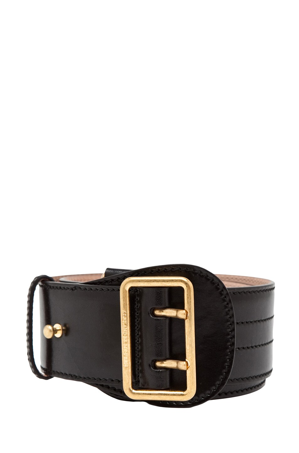 Image 1 of Alexander McQueen Waist Belt in Black