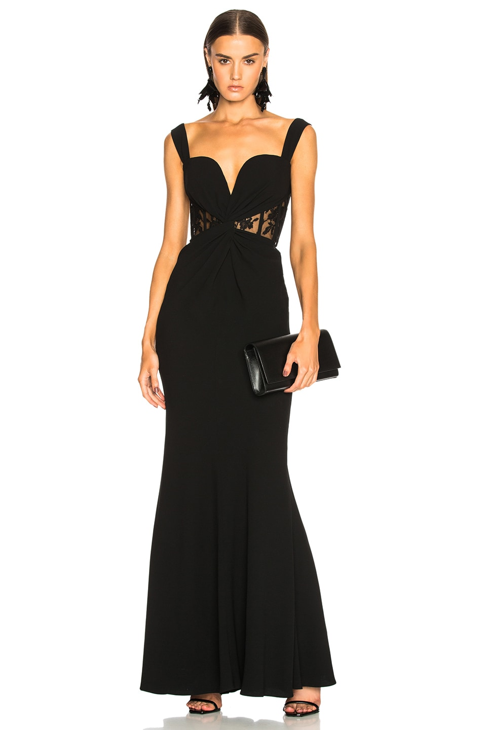 295385aedb390 Image 1 of Alexander McQueen Sleeveless Bustier Gown in Black