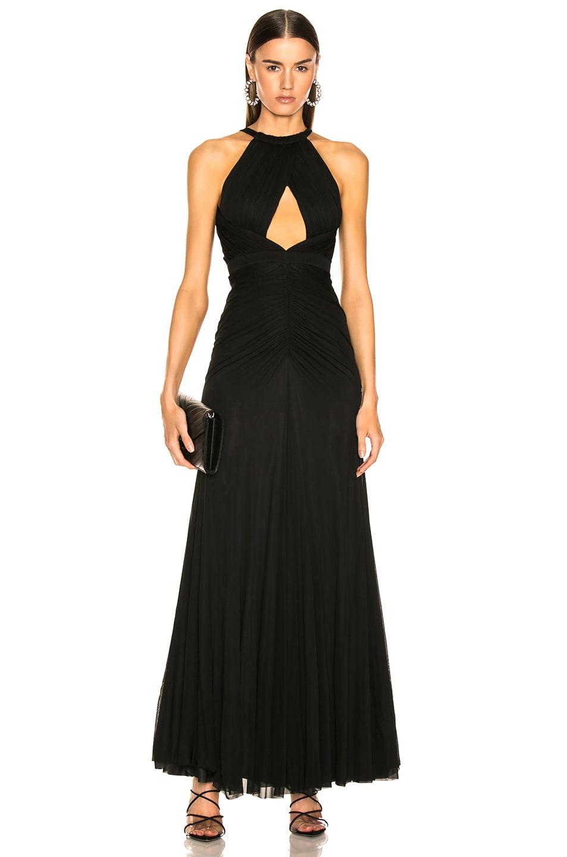 Image 1 of Alexander McQueen Halter Evening Dress in Black