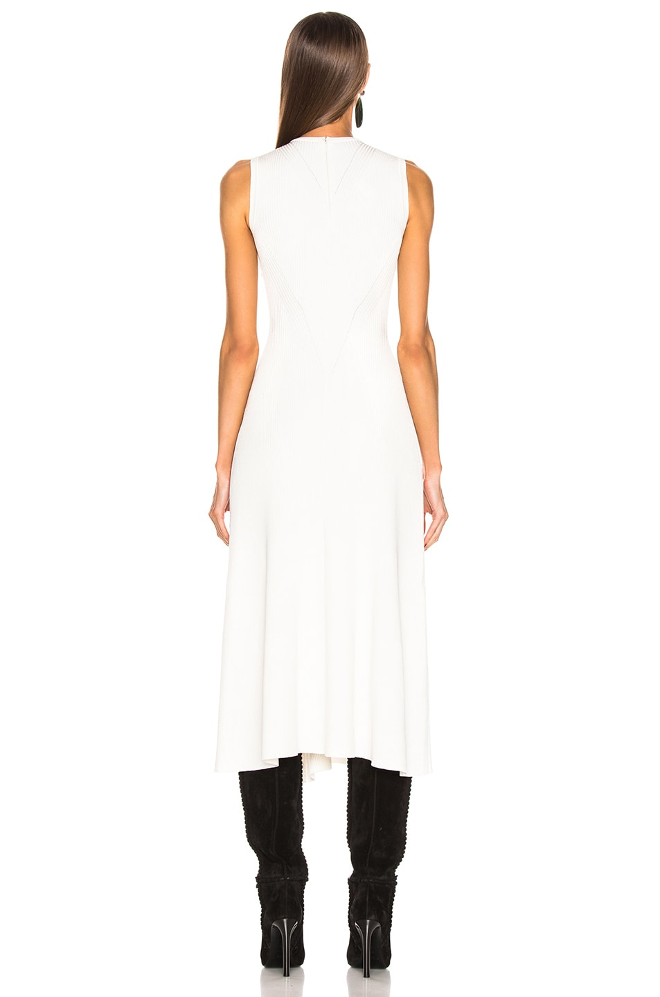 Image 4 of Alexander McQueen Slit Dress in Ivory & Silver