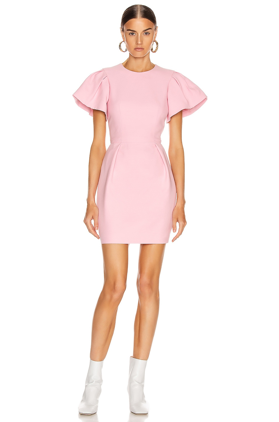 Image 1 of Alexander McQueen Short Sleeve Mini Dress in Sugar Pink