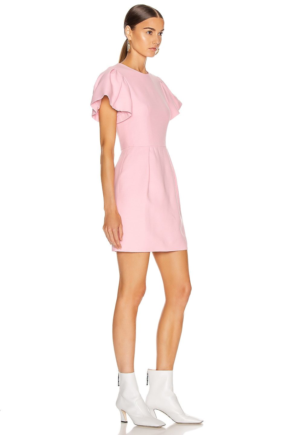 Image 2 of Alexander McQueen Short Sleeve Mini Dress in Sugar Pink