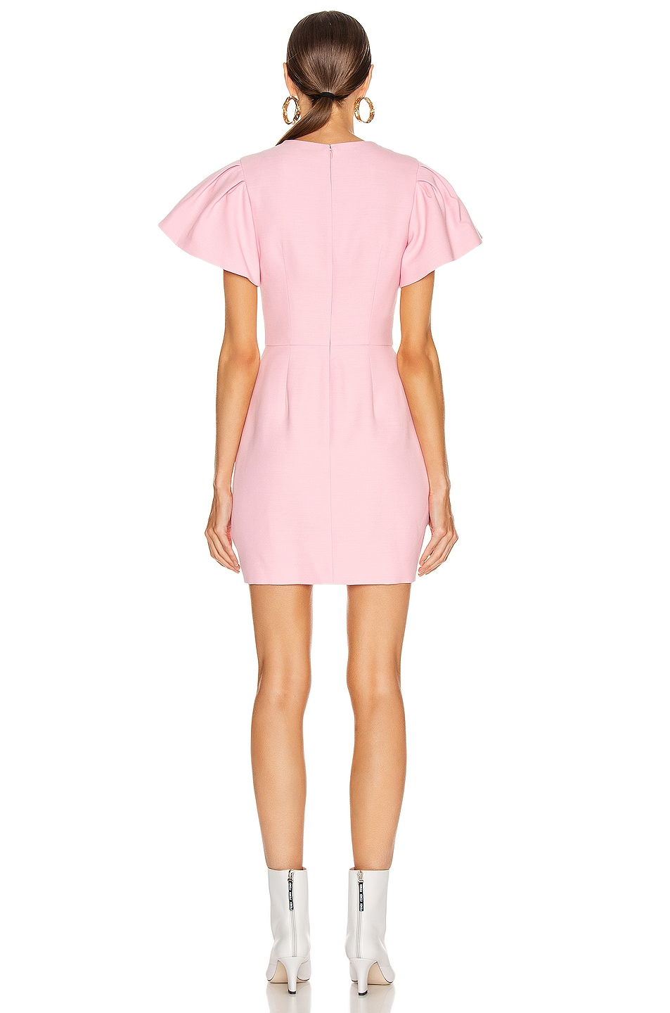 Image 3 of Alexander McQueen Short Sleeve Mini Dress in Sugar Pink