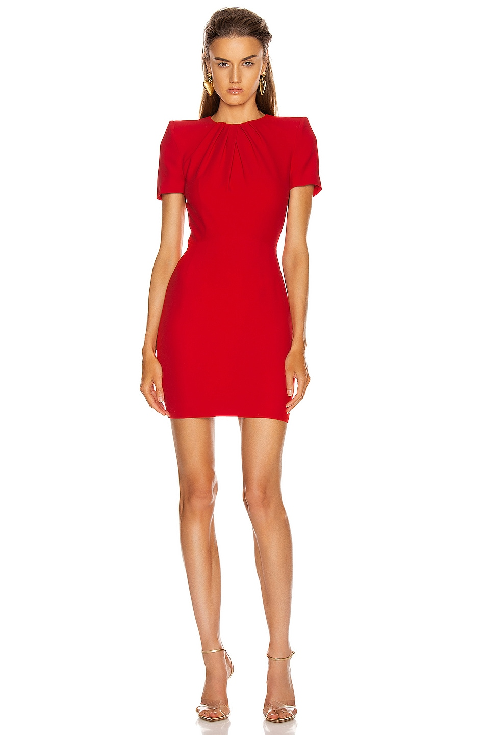 Image 1 of Alexander McQueen Mini Day Dress in Lust Red