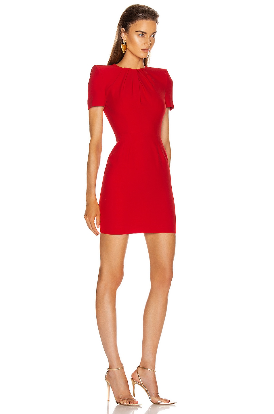 Image 2 of Alexander McQueen Mini Day Dress in Lust Red