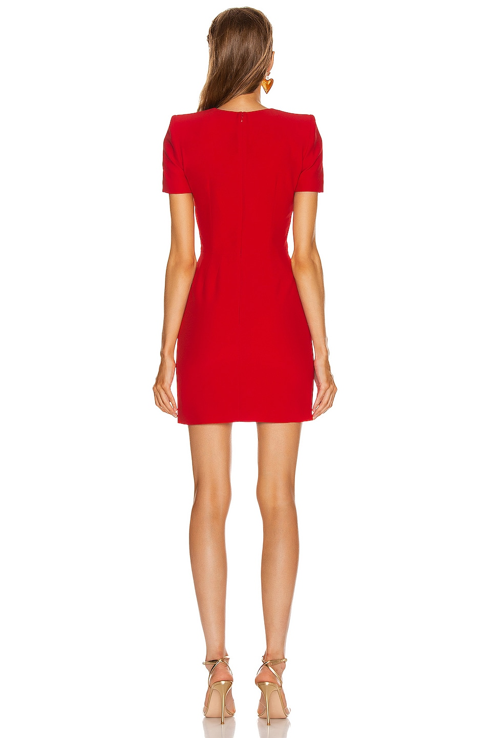 Image 3 of Alexander McQueen Mini Day Dress in Lust Red
