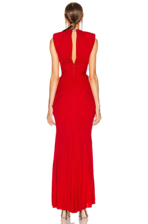 Image 3 of Alexander McQueen Sleeveless Jersey Dress in Lust Red