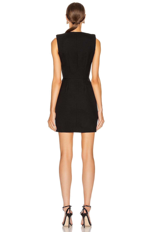 Image 4 of Alexander McQueen Zip Mini Dress in Black