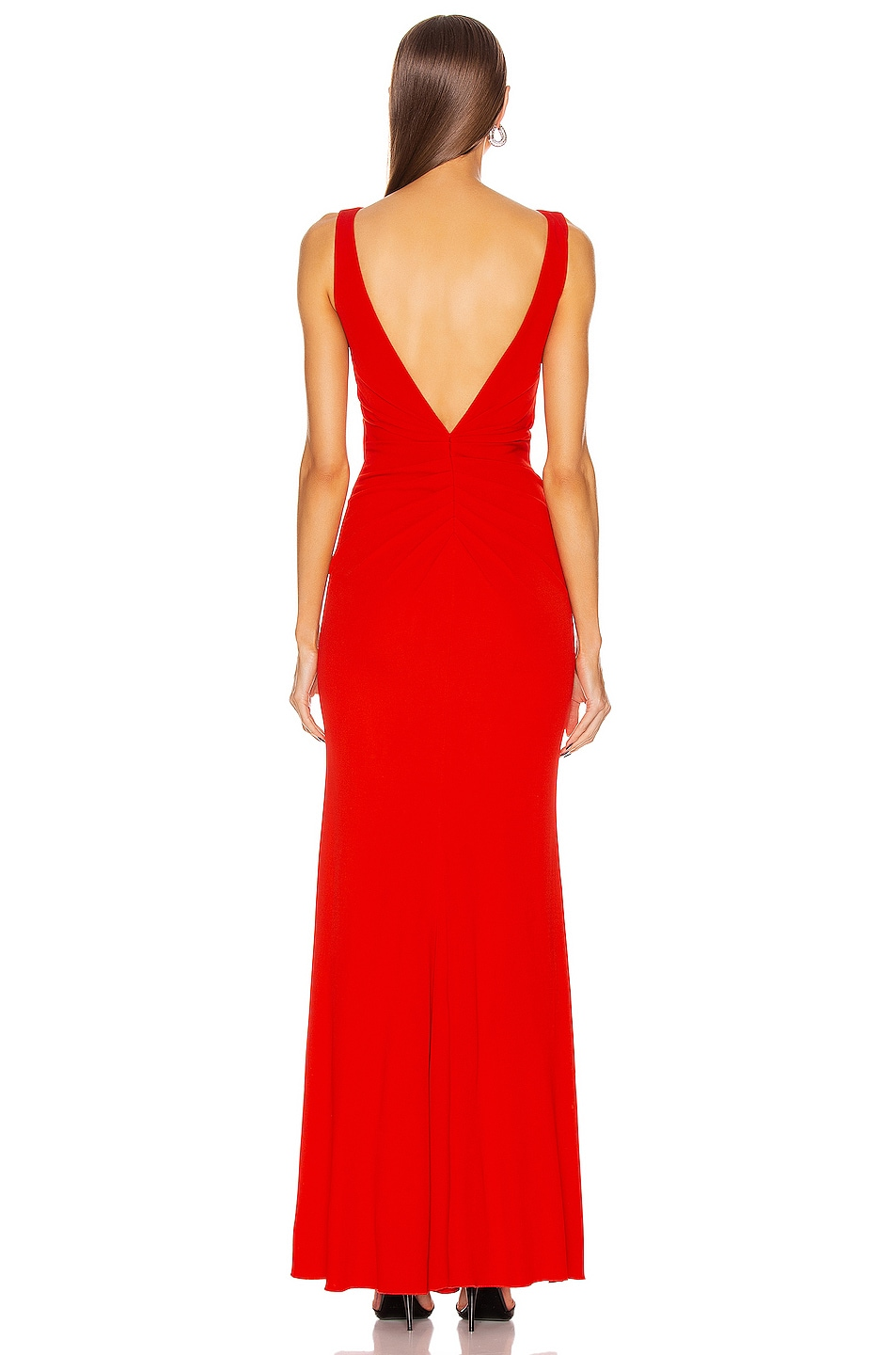 Image 3 of Alexander McQueen Long Jersey Dress in Lust Red