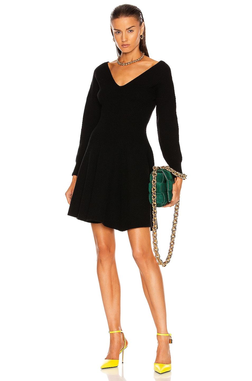 Image 1 of Alexander McQueen Long Sleeve Dress in Black