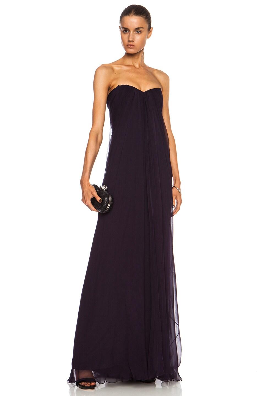 Image 1 of Alexander McQueen Silk Gown in Purple