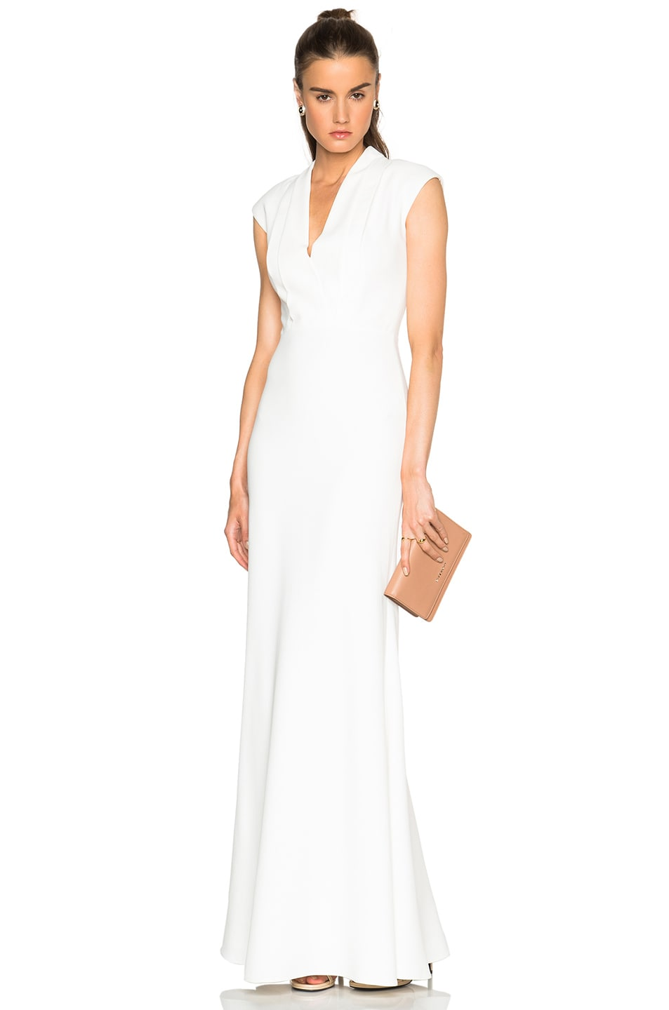 Image 1 of Alexander McQueen Large Double Lapel Gown in Ivory
